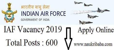 iaf vacancy 2019