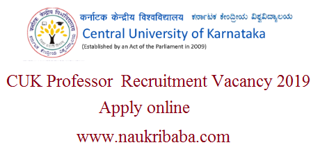 CUK professor 2019 apply online