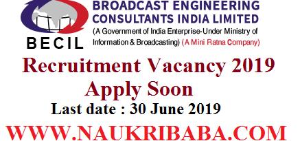 becil recruitment vacancy 2019-apply soon