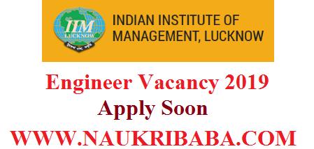 IIM Lucknow RECRUITMENT-2019-APPLY-SOON